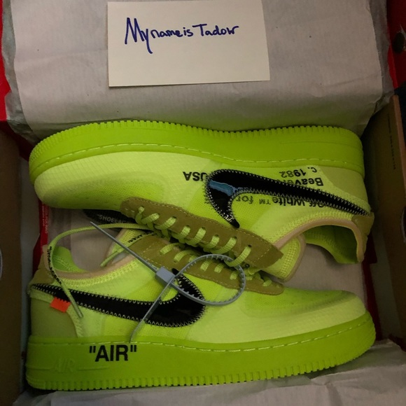"""4585062244c Nike Air Force 1 Volt """"Off-White"""""""